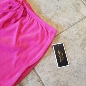 Juicy Couture Shorts - NEW JUICY COUTURE BLACK LABEL PINK VELOUR SHORTS